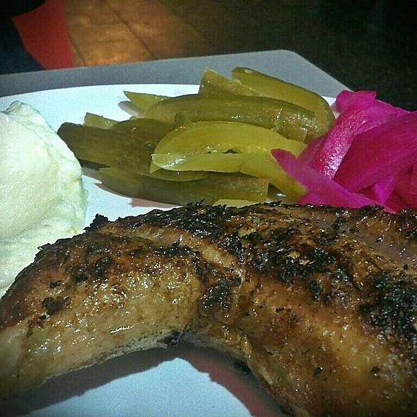 Quarter Chicken, Pickles, Garlic Sauce @ El Jannah