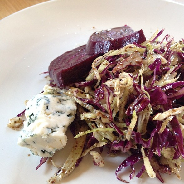 Shaved Cabbage, Roasted Beets, Blue Cheese And Balsamic Cherry Vinaigrette - Craftsman Restaurant, Minneapolis, MN