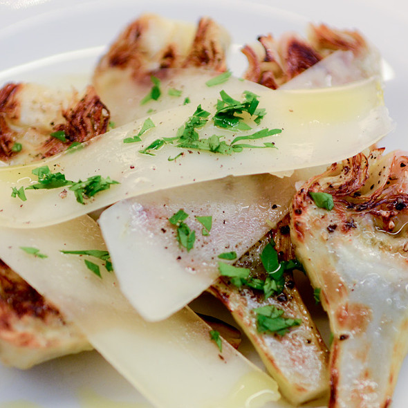 Grilled artichoke hearts @ Lucca