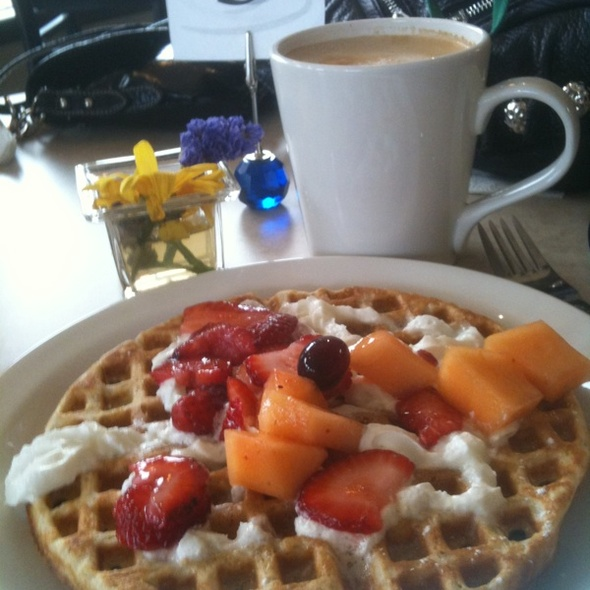 Sunday Waffle Breakfast With Latte @ Gracious Goods