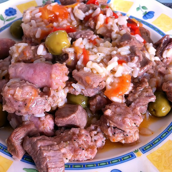 Rice with meat and sausage @ Ascomiceta's