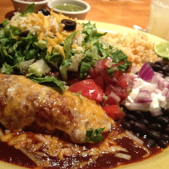 Chicken Enchilada And Beef Tostada @ Peppers Mexicali Cafe