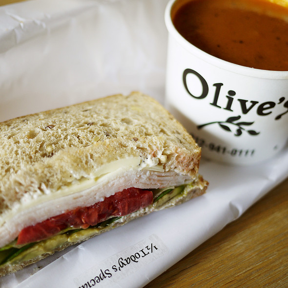 1/2 Special Sandwich & Today's Soup @ Olive's