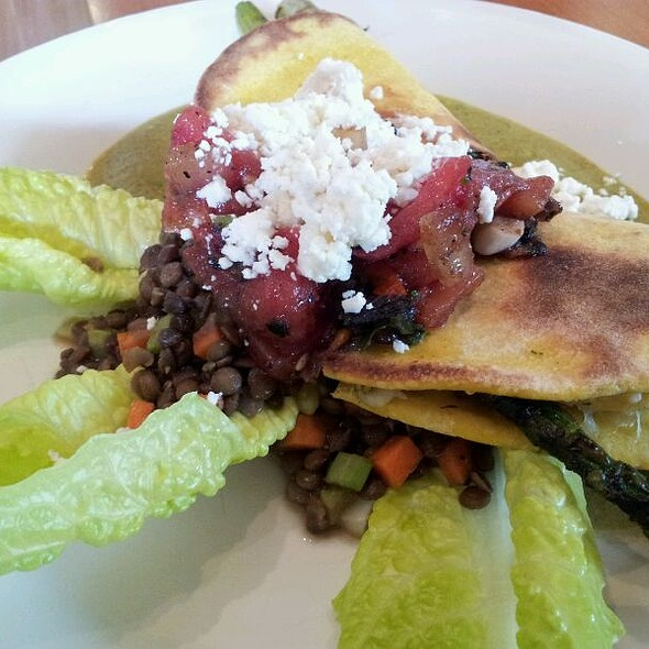 Grilled Asparagus Flatbread Quesadilla @ Aqui Cal-Mex