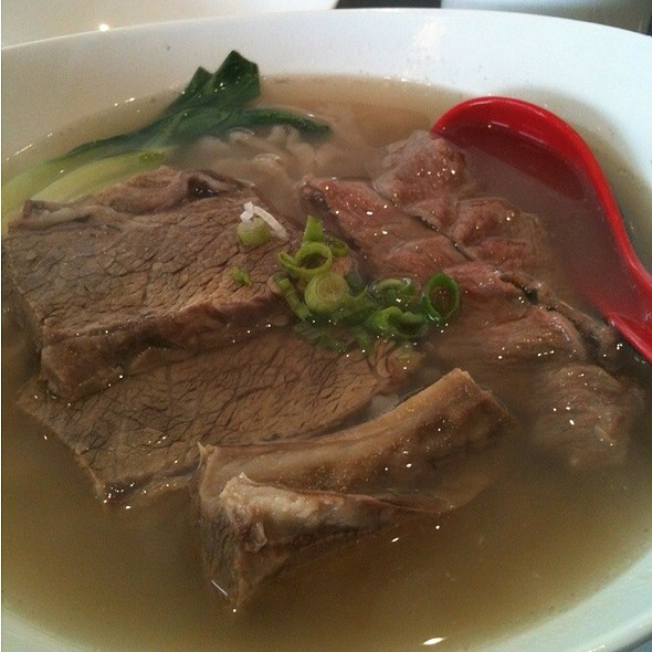 Beef Brisket with Noodle in Clear Soupc @ Chef Hung