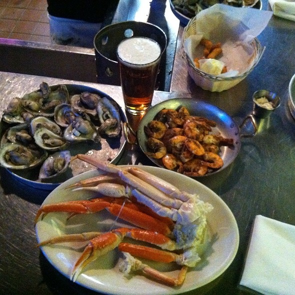 Oysters, Crab Legs, Shrimp, And Beer - Tony's Oyster Bar and Restaurant, Cary, NC