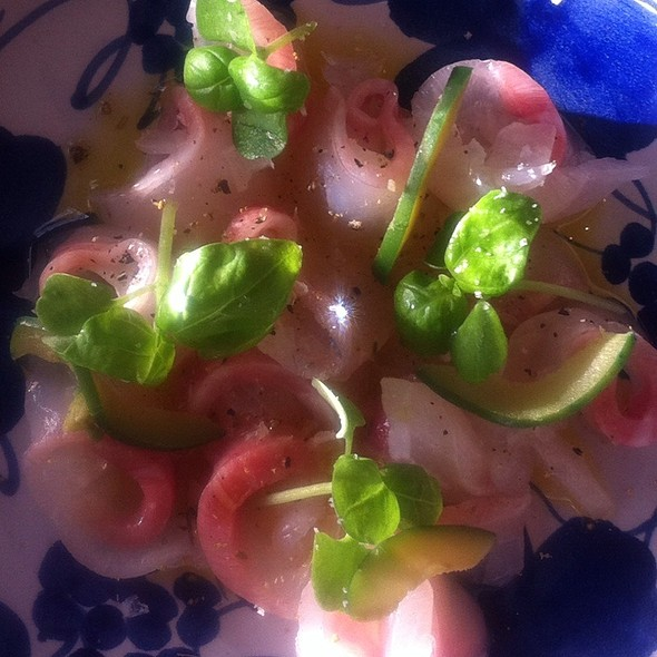 Sea Bream Crudo @ Enoteca Sociale
