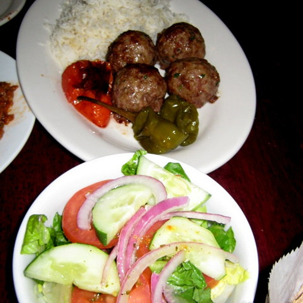 Lamb Kӧfte and Salad @ Balkanika
