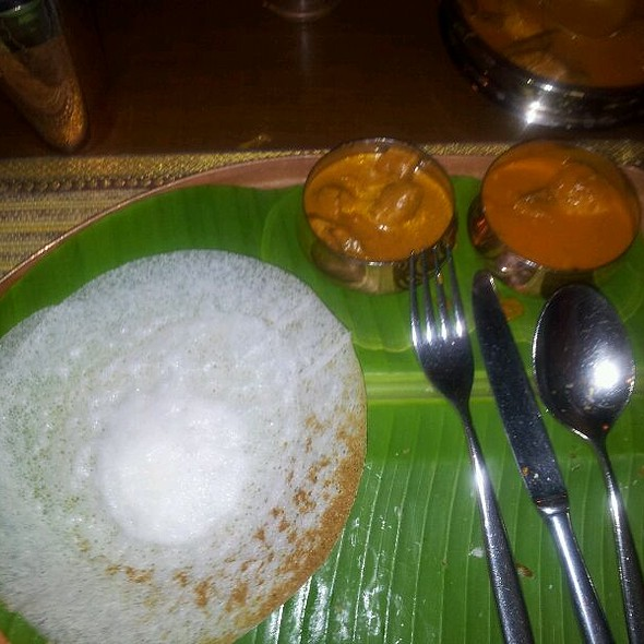 Appam and fish curry @ Karavalli, Taj Gateway