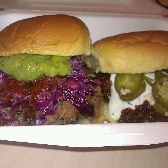 Burnt Ends Slider & BBQ Pulled Pork Slider  @ Mexicue Food Truck