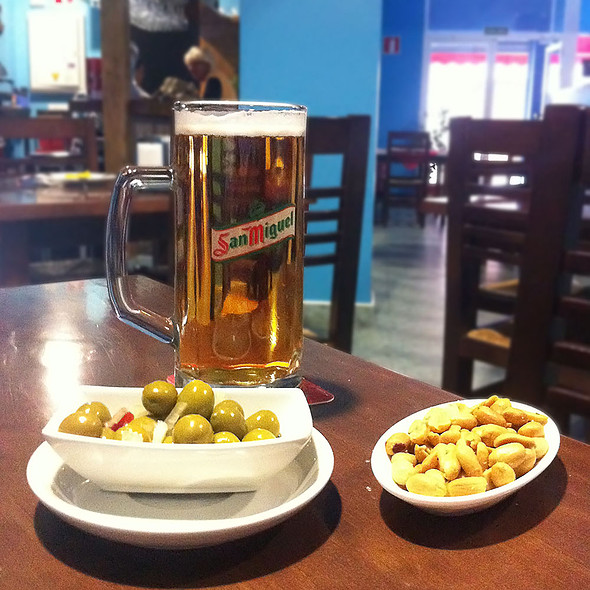 Beer and tapa