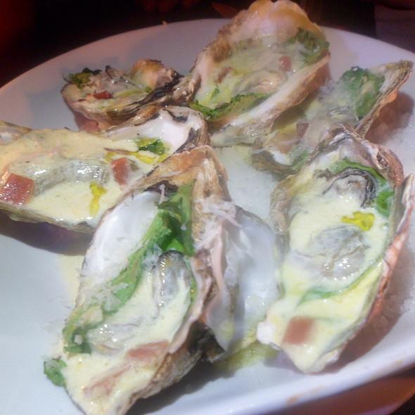 Baked Oysters al Espagnola @ Dos Meztizos