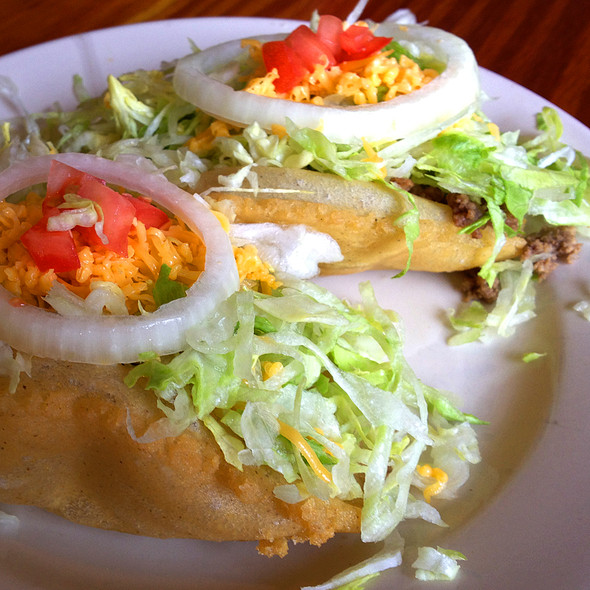 Beef Puffy Tacos At La Fiesta Patio Cafe