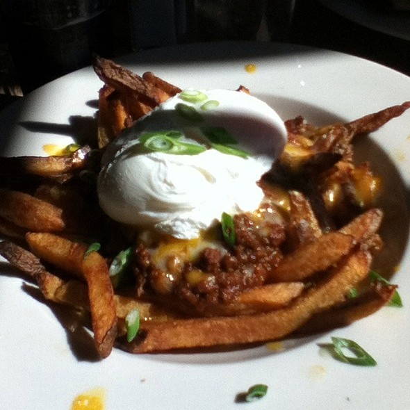 Chili Fries With Poached Egg  @ Crystal Lake Cafe