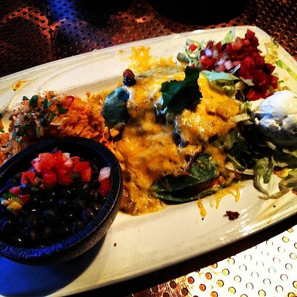 blue corn chicken enchiladas... oh dear lord... @ Sopapilla's: A Taste of New Mexico