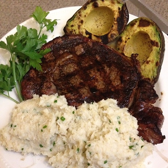 Ribeye Steak With Celery/Parsley Root Mash And Grilled Avocado @ The Stern's