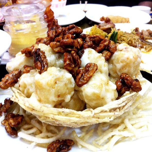 Fried Fish Balls W/ Walnuts @ Wah Kung Chinese Restaurant