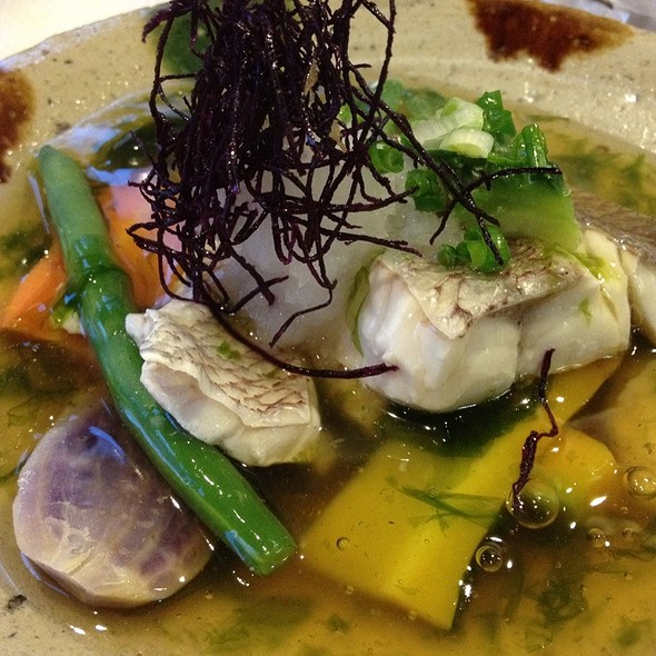 Seabass With Grilled Vegetables In Vegtable Sauce @ 膳Zen