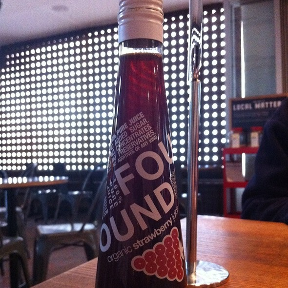Organic Strawberry Juice @ Grill'd Parramatta