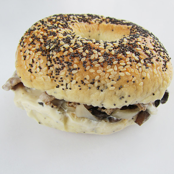 Philly Cheese Steak Bagel