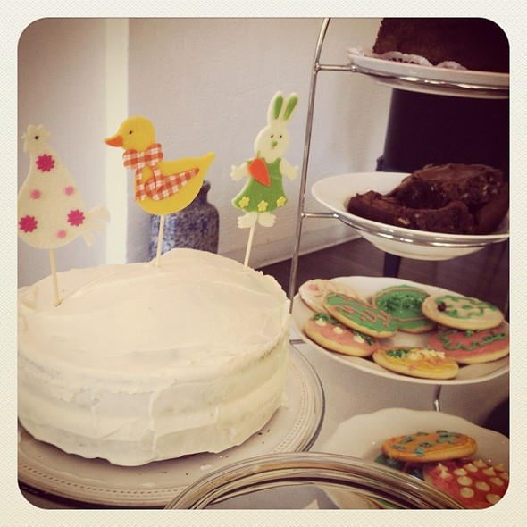 Carrot Cake, Easter Cookies & Brownies