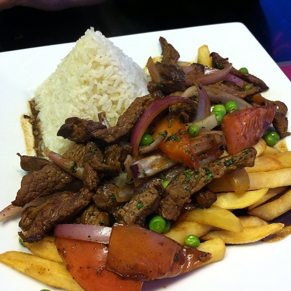 Steak With Fries, Onions And Rice @ Maura's Kitchen