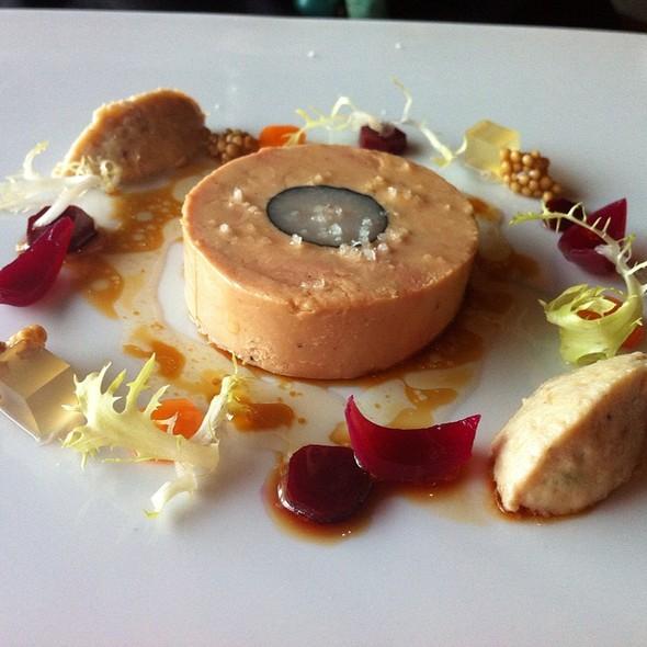 Fois Gras Torchon, Ash Rolled Rabbit Loin & Riellette, Pickled Mustard Seeds, Sautern Gelee & Brioche @ Canlis