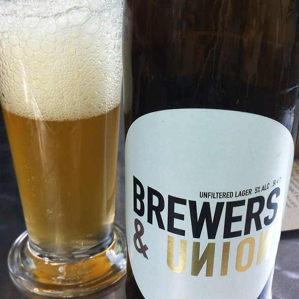 Brewers & Union Unfiltered Lager @ Vovo Telo Parkhurst