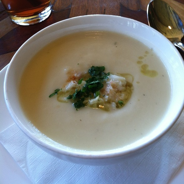 cauliflower soup w/ dungeness crab (truffle oil'ed!) @ Toulouse Petit Kitchen & Lounge