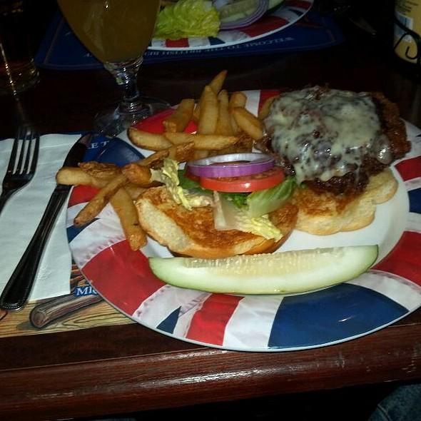 Beer Battered Burger And Fries @ British Beer Co