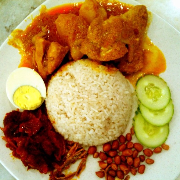 Nasi Lemak with Curry Chicken @ Restaurant Ho Ho Sek