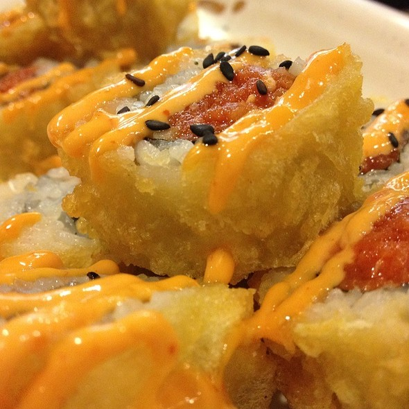 Tempura Spicy Tuna Roll @ California Sushi & Teriyaki