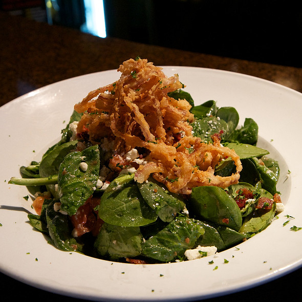 Scrumptious Spinach Salad @ Sports Page Restaurant & Bar