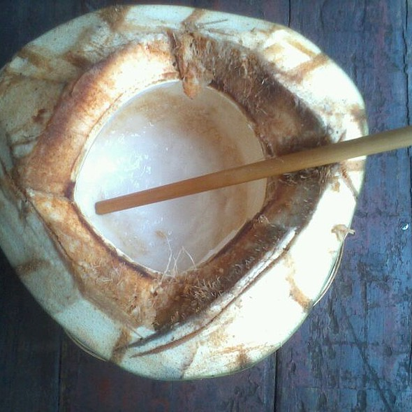 whole young coconut @ soma