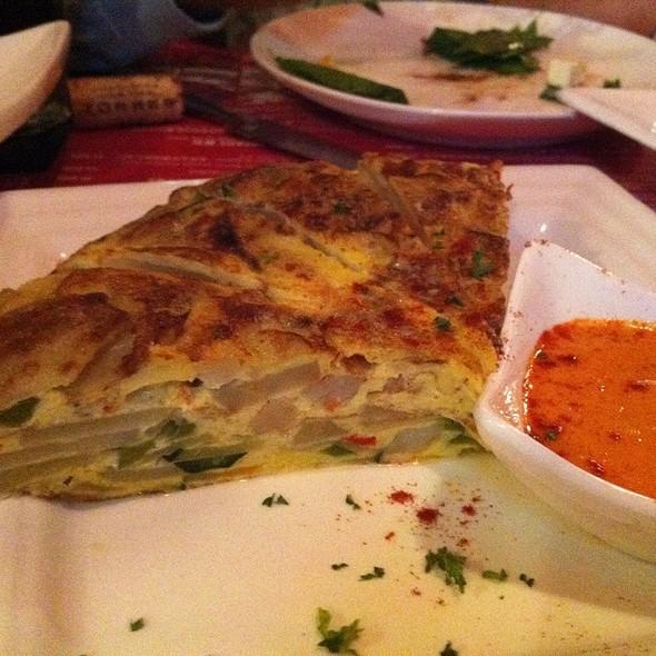 Potato & Onion Omelet Serve With Paprika Aioli @ Las Tapas