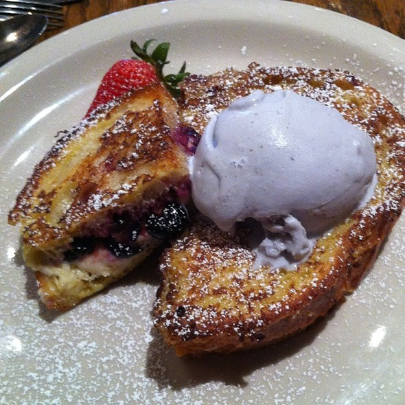 Blueberry Lavender French Toast @ Bread Winners Cafe