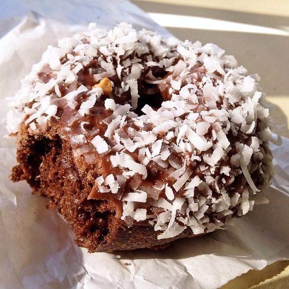 Chocolate Coconut Cake Donut @ Rainbow Donuts