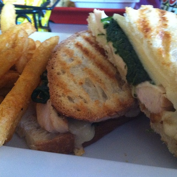 Grilled Chicken With Spinach And Provlone Panini @ Havana