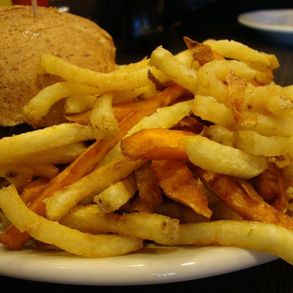Half-Idaho and Half-Sweet Potato Fries @ Four Burgers