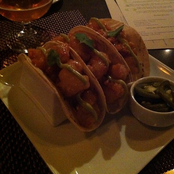 Spicy Rock Shrimp Tacos @ Ravenous Pig