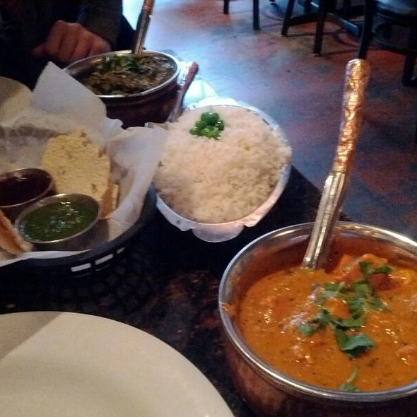 Chicken Tikka Masala And Saag Paneer - Little India Restaurant - Downtown, Denver, CO