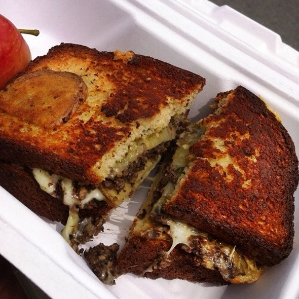 Gluten-Free Mushroom Gruyere Grilled Cheese Sandwich @ The American Grilled Cheese Kitchen