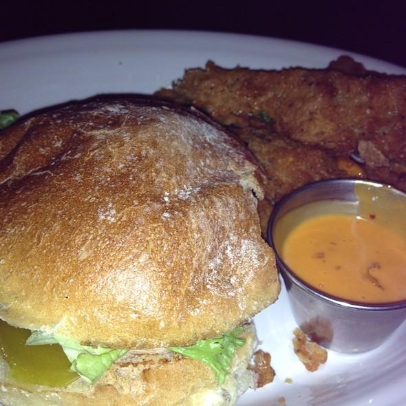 Grilled Chicken Sandwich & Zucchini Fries! @ Leroy Fox