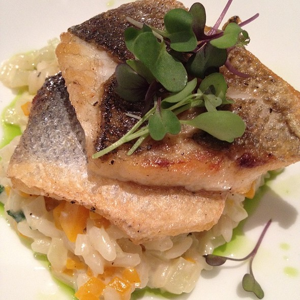 Branzino Over Fennel & Butternut Squash Risotto