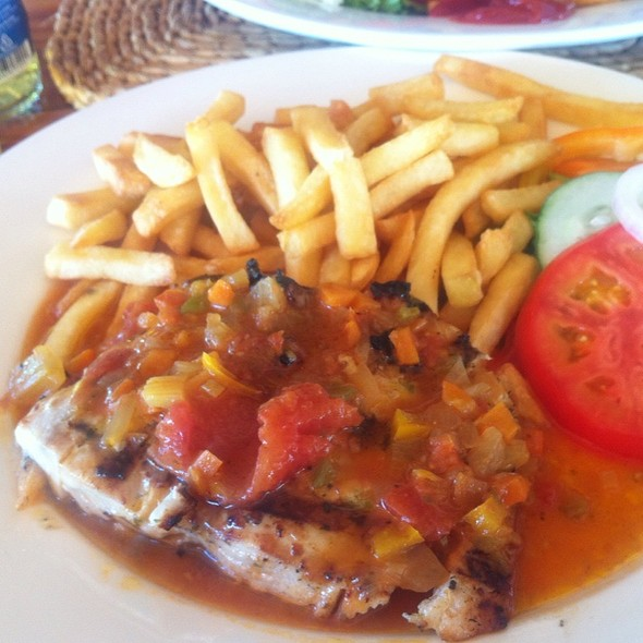 Char Grilled Fish With Creole Sauce @ Spinnakers Restaurant & Beach Bar