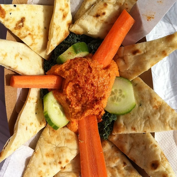 Roasted Red Pepper Hummus @ Savory And Sweet Truck