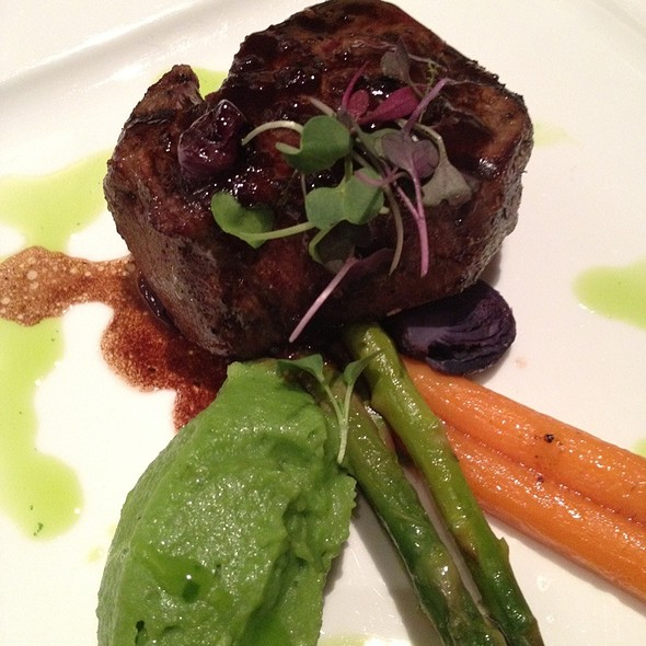 Filet Mignon W/Blueberry Demiglace & Purple Baby Brussel Sprouts