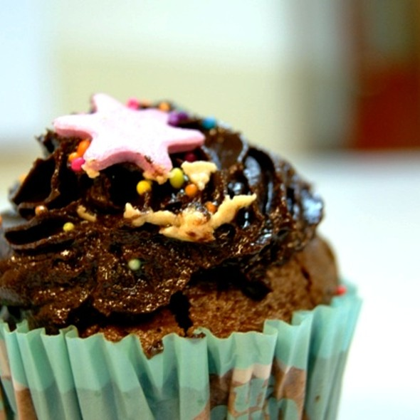 Chocolate Cupcake with Chocolate Frosting @ The Cupcake Store