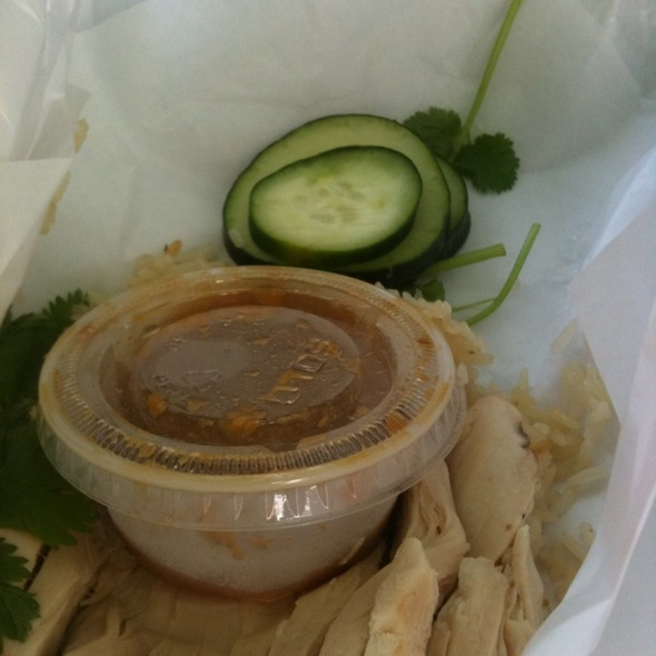 chicken and rice @ Nong's Khao Man Gai