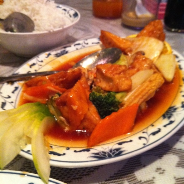 sesame tofu @ China Doll Seafood Restaurant